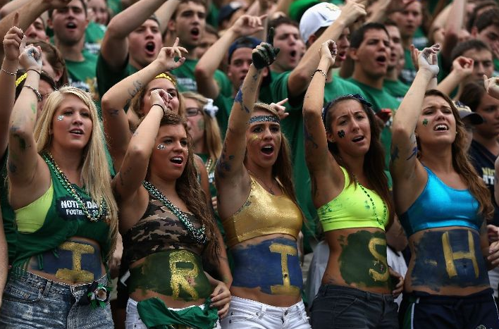 Irish Girl Going HAM at the Game