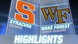Syracuse vs Wake Forest | 2014 ACC Football Highlights