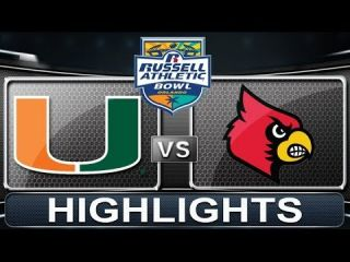 Miami vs Louisville | Russell Athletic Bowl | 2013 ACC Football Highlights