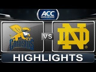 Canisius vs Notre Dame | 2013 ACC Basketball Highlights