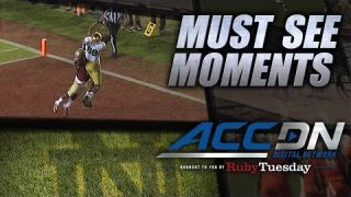 Notre Dame's Corey Robinson Makes Great TD Grab | ACC Must See Moment