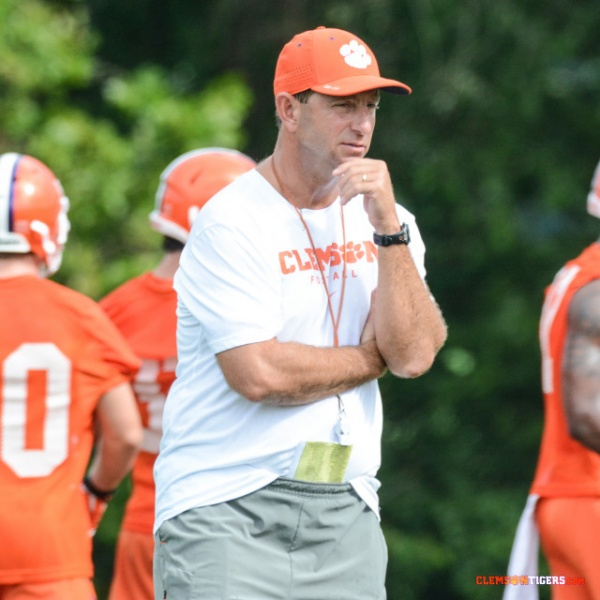 Clemson Holds Practice at Jervey Meadows