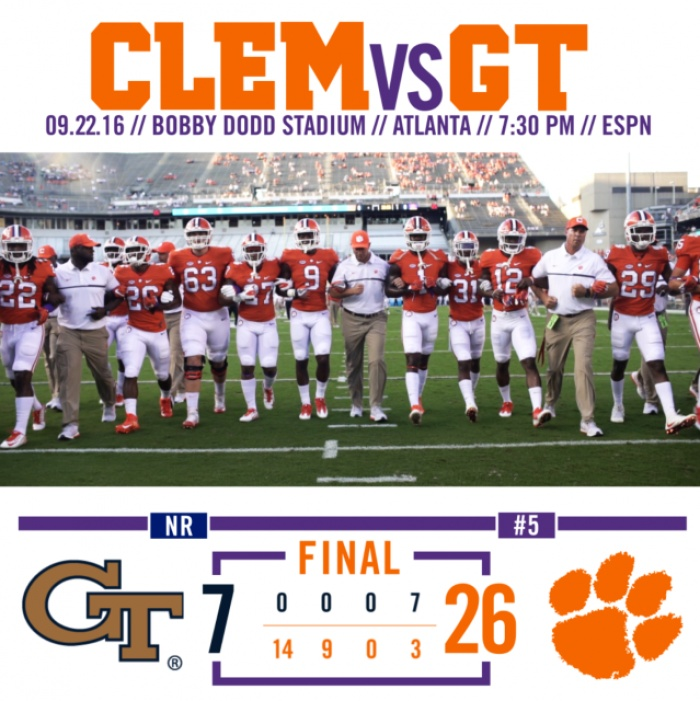 Tigers Break Streak, Beat Tech 26-7