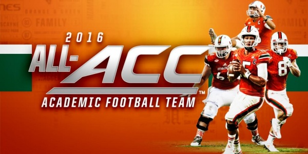 Four Canes Named Academic All-ACC