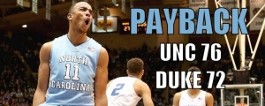 Brice Johnson Get Hype After Big Dunk Against Duke.