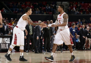Nick Faust led Maryland in scoring for the second game in a row and helped Maryland to a 2-0 start in conference play.