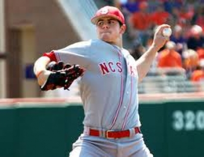 Sophomore pitcher Carlos Rodon throws a pitch during the 2012 ACC Tournament.