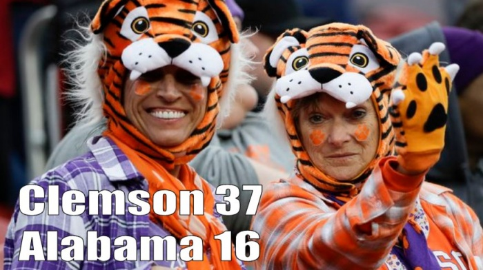Clemson 37 vs Alabama 16 CFB Championship Report