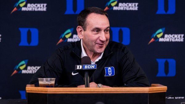 Coach K, Blue Devils Hold Preseason Media Day