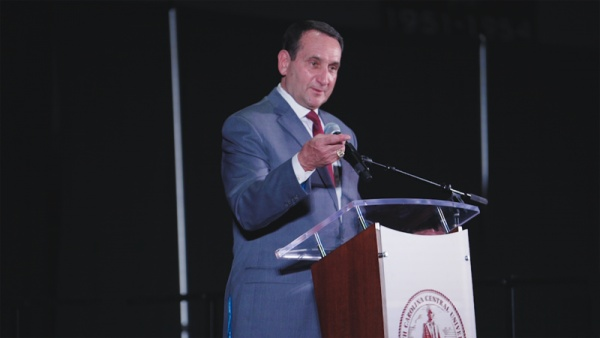 Coach K Speaks at NCCU Tip Off Banquet