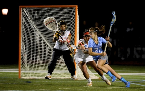 Freshman attacker Aly Messinger helped set the tone early for her offense, scoring three of North Carolina's first five goals.