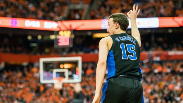 No. 1 Duke Runs Past Syracuse 75-65