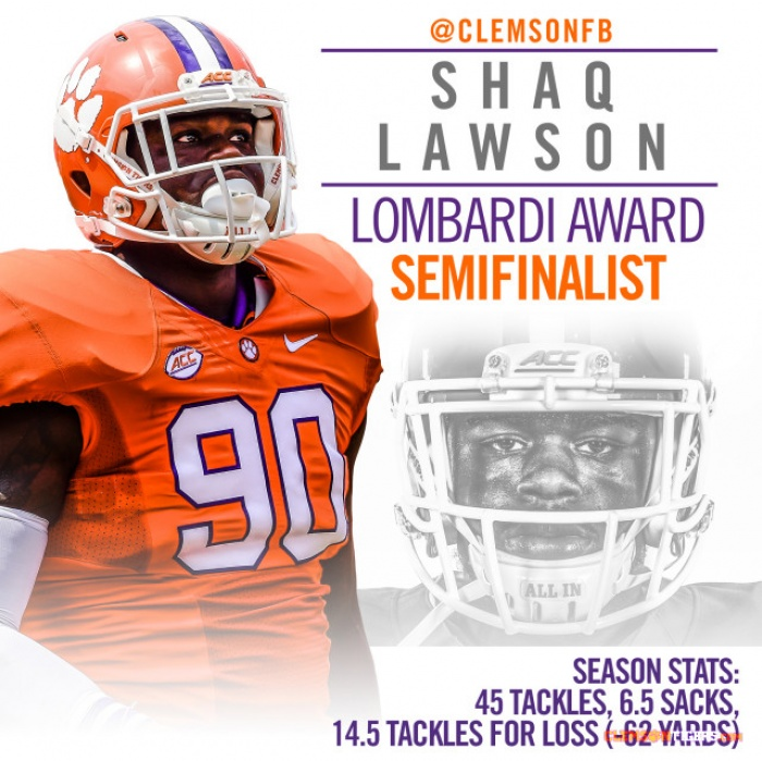 Lawson Named Semifinalist for Lombardi Award