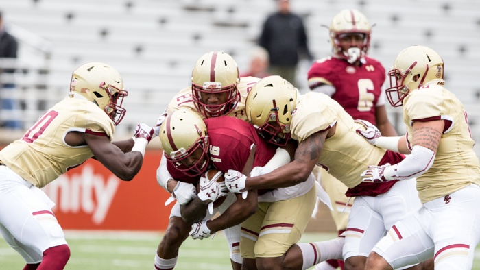 Maroon and Gold Play to Tie in Spring Game