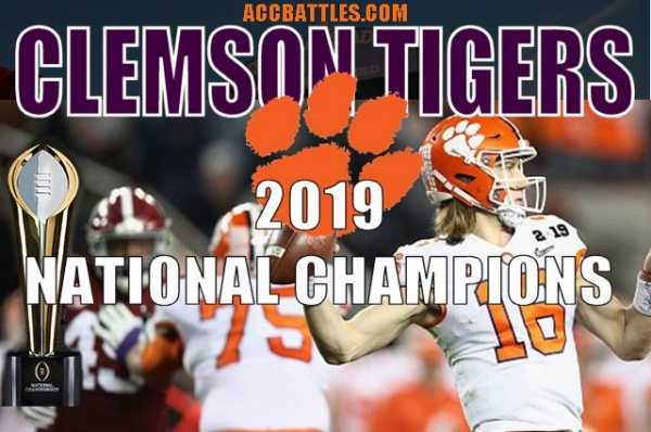 Clemson Tigers 2019 CFB National Champions