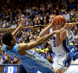 Plumlee goes hard.