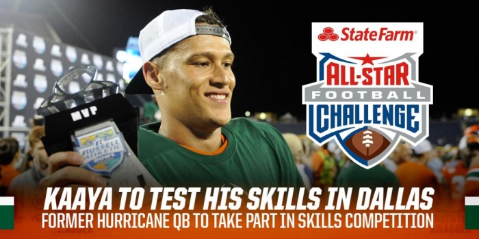 Kaaya to Take Part in the 2017 State Farm Challenge