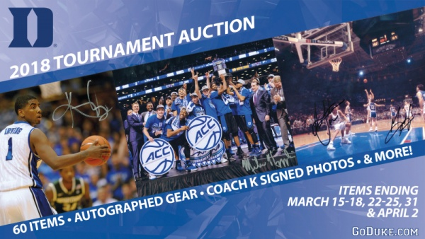 Featured Auction Item: Marshall Plumlee Photo