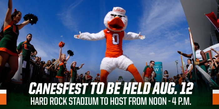 CanesFest Set for Aug. 12 at Hard Rock Stadium