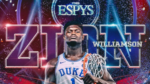 Williamson Wins 2019 ESPY as Best College Athlete