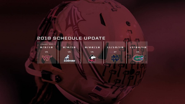 2018 Seminole Football Schedule Update