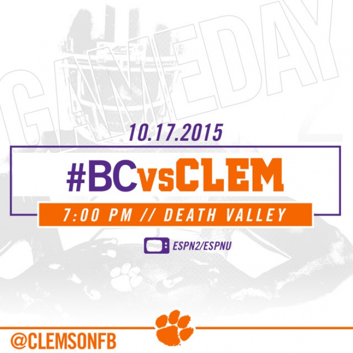 #BCvsCLEM Gameday Guide