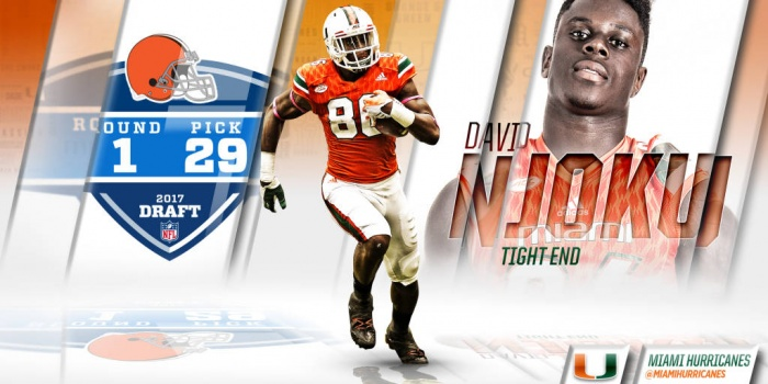 Njoku Selected in First Round of 2017 NFL Draft