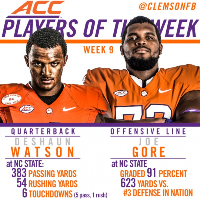 Watson, Gore Honored by ACC