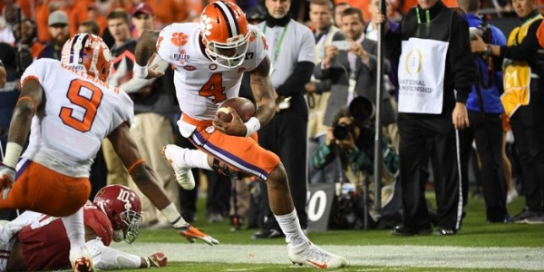 Clemson Tigers Win College Football National Championship over the Alabama Crimson Tide.