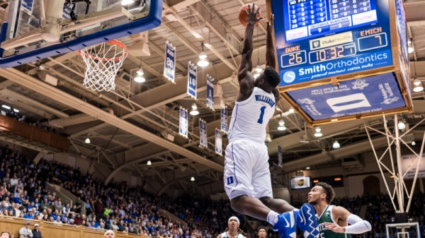 Williamson, No. 1 Duke Rout Eastern Michigan 84-46