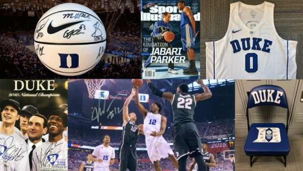 Featured Auction Item: Autographed Duke Bench Chair