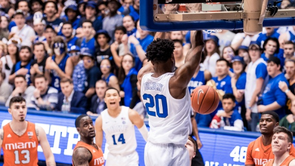 No. 3 Duke Rolls Past Miami 87-57