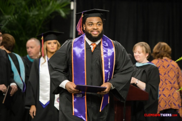 Fifteen Tiger Gridders Earned Degrees Thursday