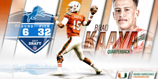 Kaaya Selected in Sixth Round of 2017 NFL Draft