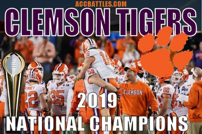 Clemson Tigers Blowout Alabama in the 2019 CFB National Championship