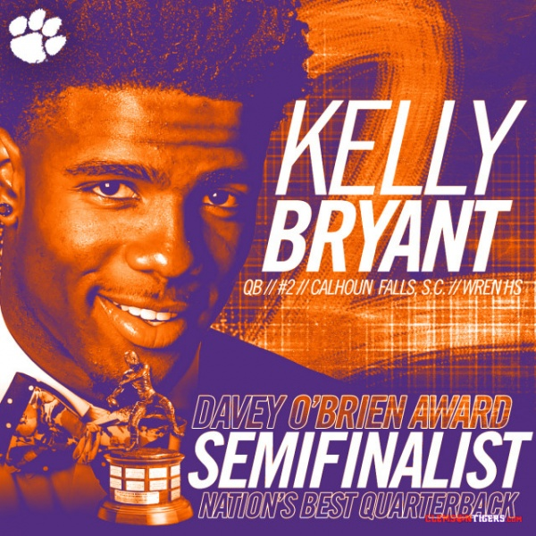 Bryant Semifinalist for O'Brien Award