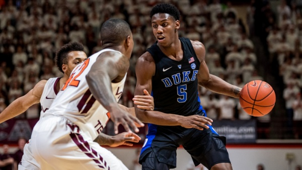 No. 3 Duke Drops Contest to No. 20 Va. Tech, 77-72