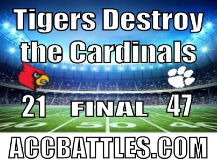 The Tigers Dominate the Cardinals 47 - 21