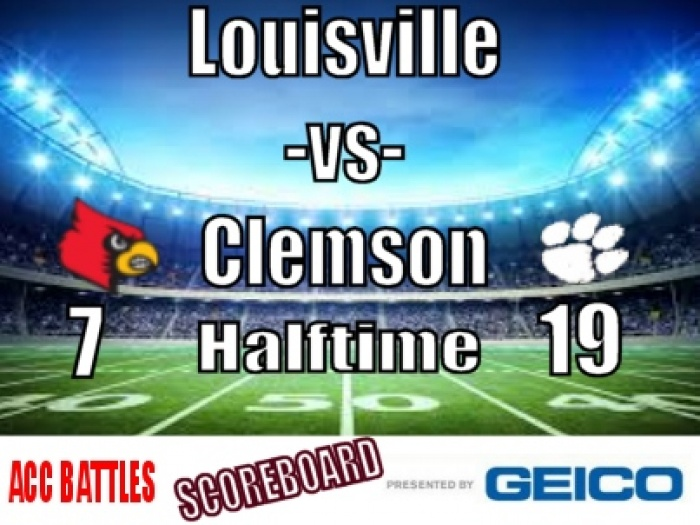 Clemson vs Louisville Halftime Report