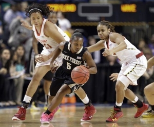 Chelsea Douglas contributed 31 points, 5 assists and 5 rebounds, but her Demon Deacons fell short against Maryland.