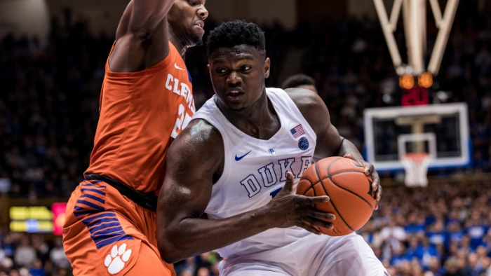 Williamson Leads No. 1 Duke Past Clemson 87-68