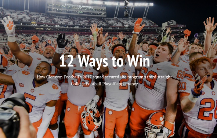 12 Ways to Win: Clemson Football 2017