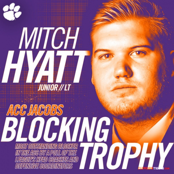 Hyatt Winner of Jacobs Blocking Trophy
