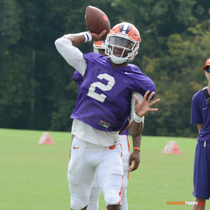 Tigers Hold Practice in Jervey Meadows