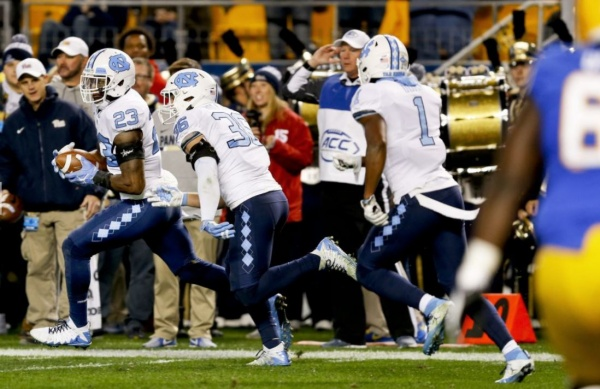Tar Heels Win a Battle over Pitt 34-31