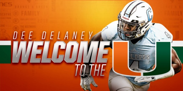 Dee Delaney Joins Hurricane Football Program