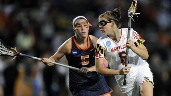 Sophomore midfielder Kelly McPartland scored 3 goals in the second half to help Maryland ward off a strong Syracuse offensive and preserve the lead.