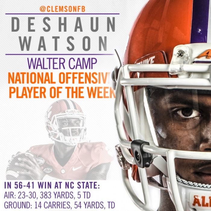 Watson National Player of the Week