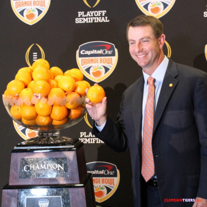 Swinney Named AFCA National Coach of the Year