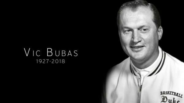 Duke Mourns Passing of Vic Bubas